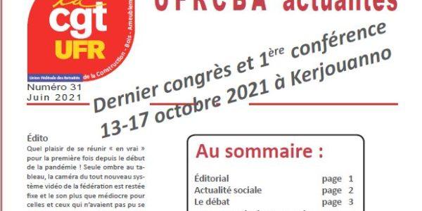 UFR Actualités n°31 – Juin 2021