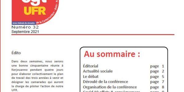 UFR Actualités n°32 – septembre 2021